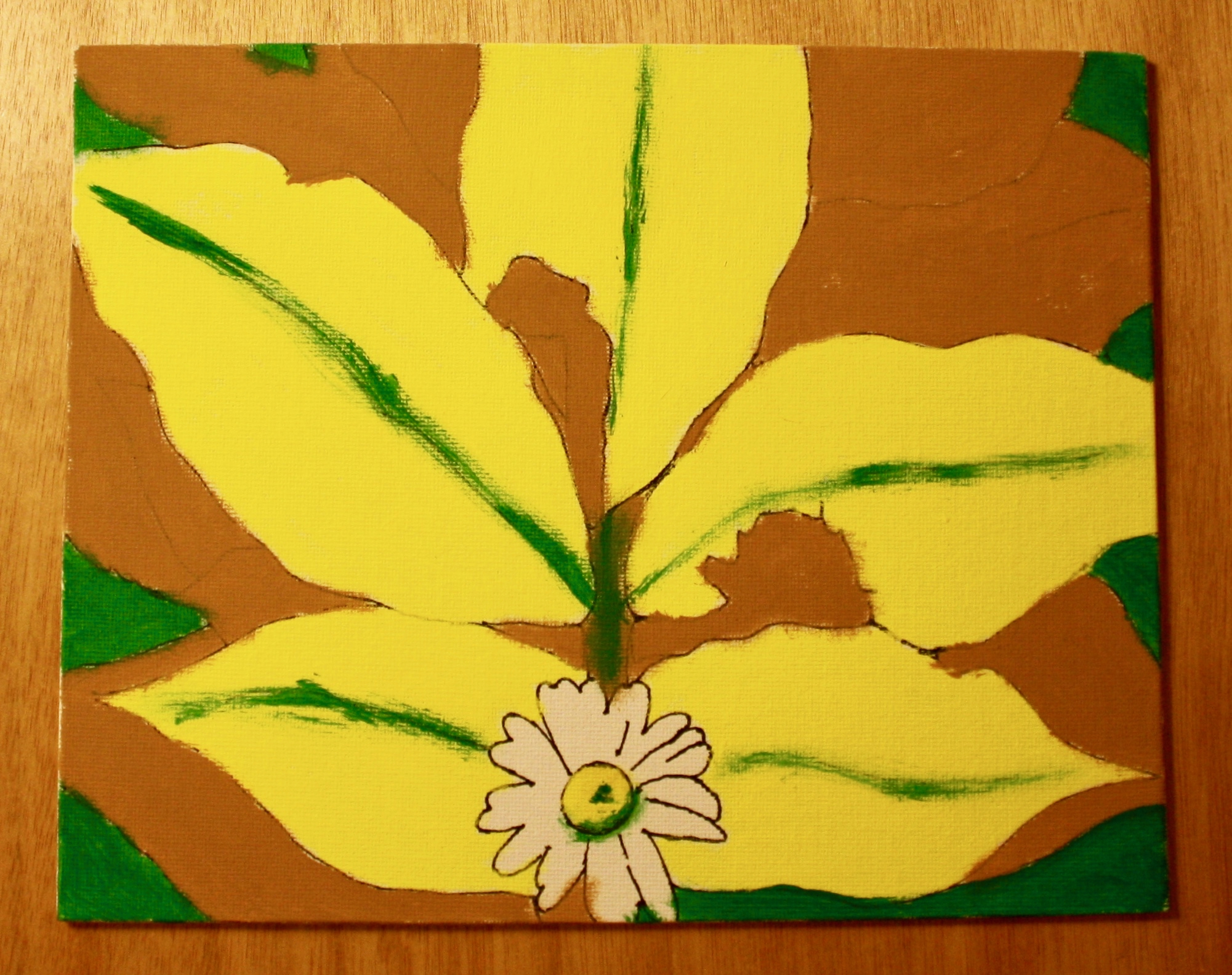 Yellow Leaves Diy Paint Kit Lavender And Ochre